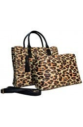LEOPARD PURSE WITH MATCHING BAG