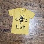 Littles Mustard Bee Kind Tee