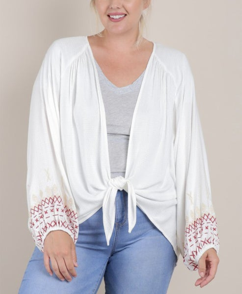 Bishop Sleeve Cardigan