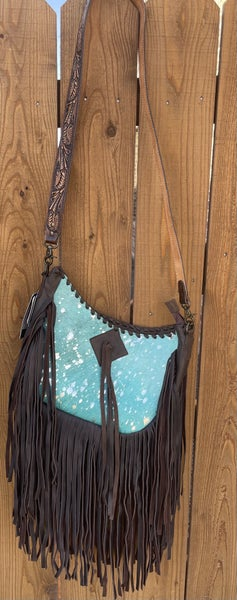 Turquoise Acid Wash Cross Body CC