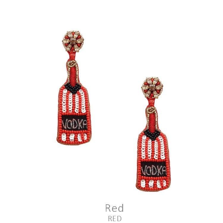 Seed Bead Vodka Earrings