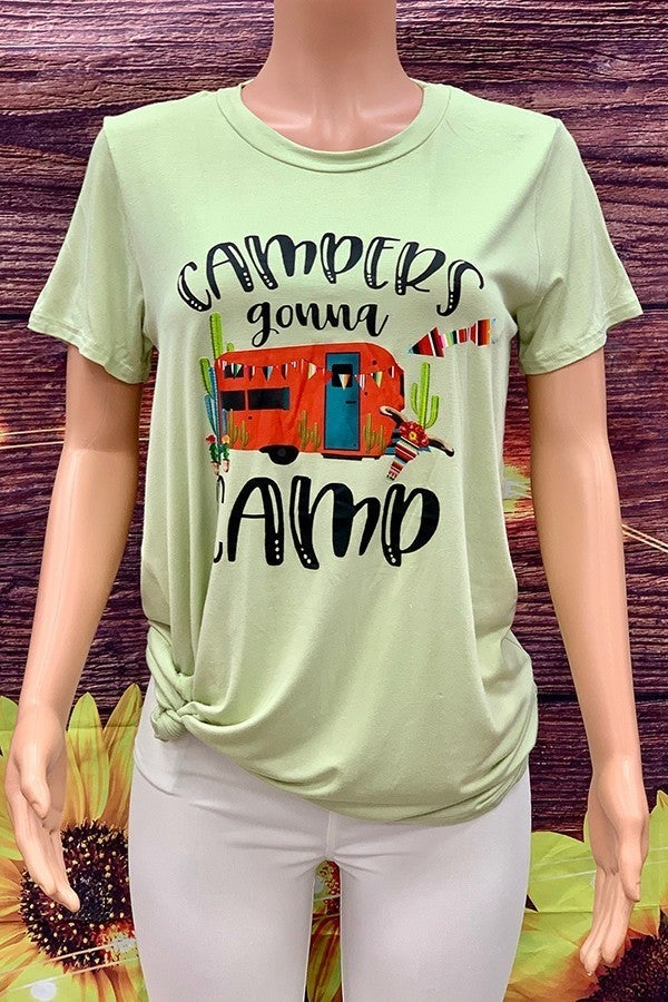 CAMPERS GONNA CAMP TEE SHIRT *Final Sale*