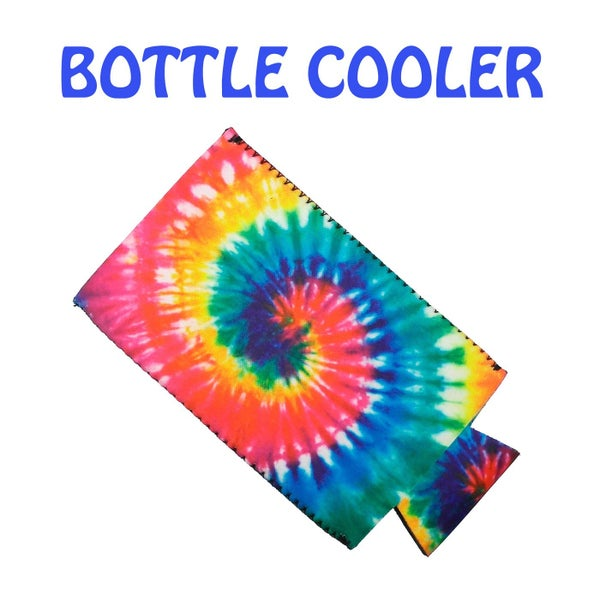 Spiral Tie Dye Slim Can or Bottle Coozy