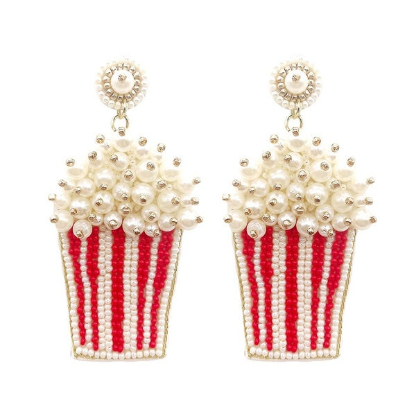 Popcorn Seed Bead Earrings