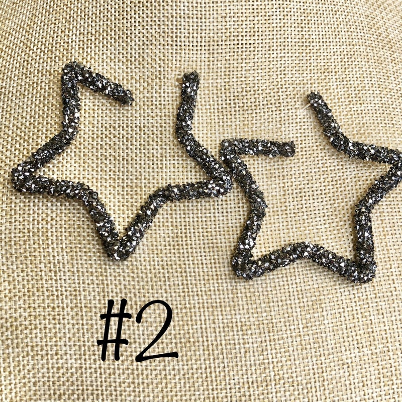 Crescent star earrings