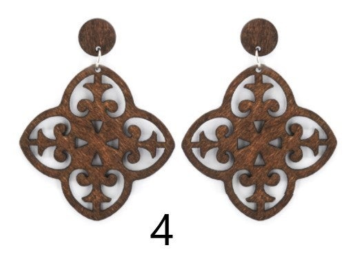 Wood Boho Earrings