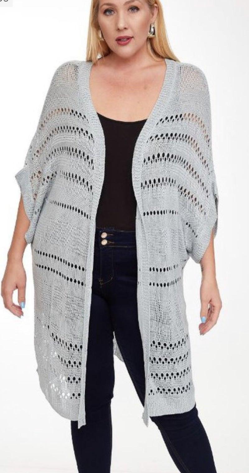 Light Open Knit Cardigan