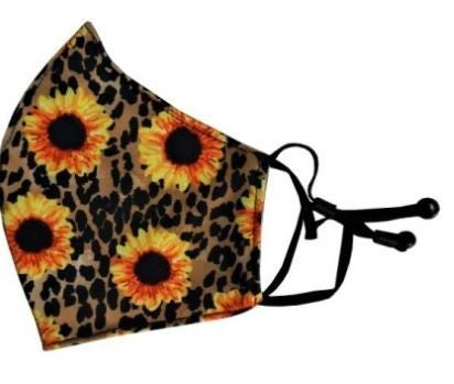 LEOPARD AND SUNFLOWER FACE COVER