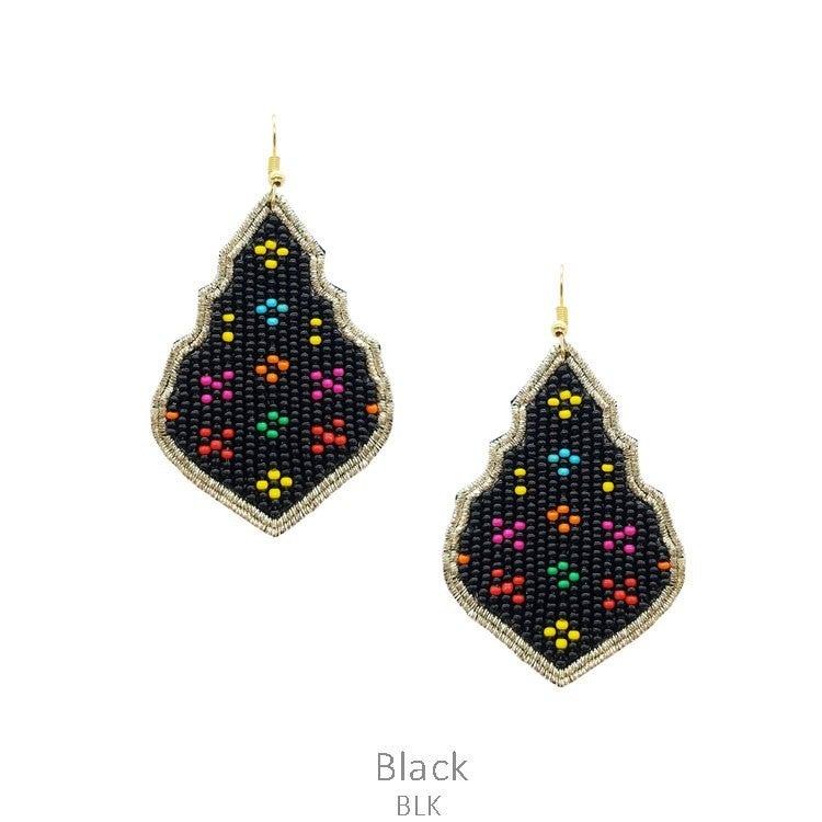 Neon Seed Bead Earrings