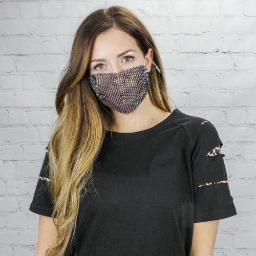 Rhinestone Face Cover Set
