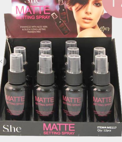 She matte setting spray
