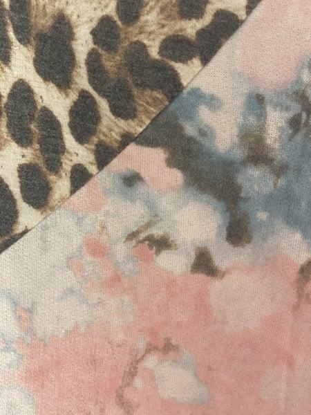 Tye Dye and Leopard V Neck