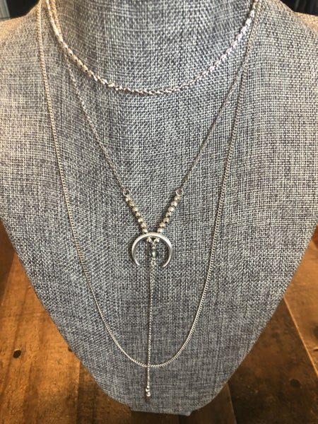 3 LAYER CRESCENT NECKLACE