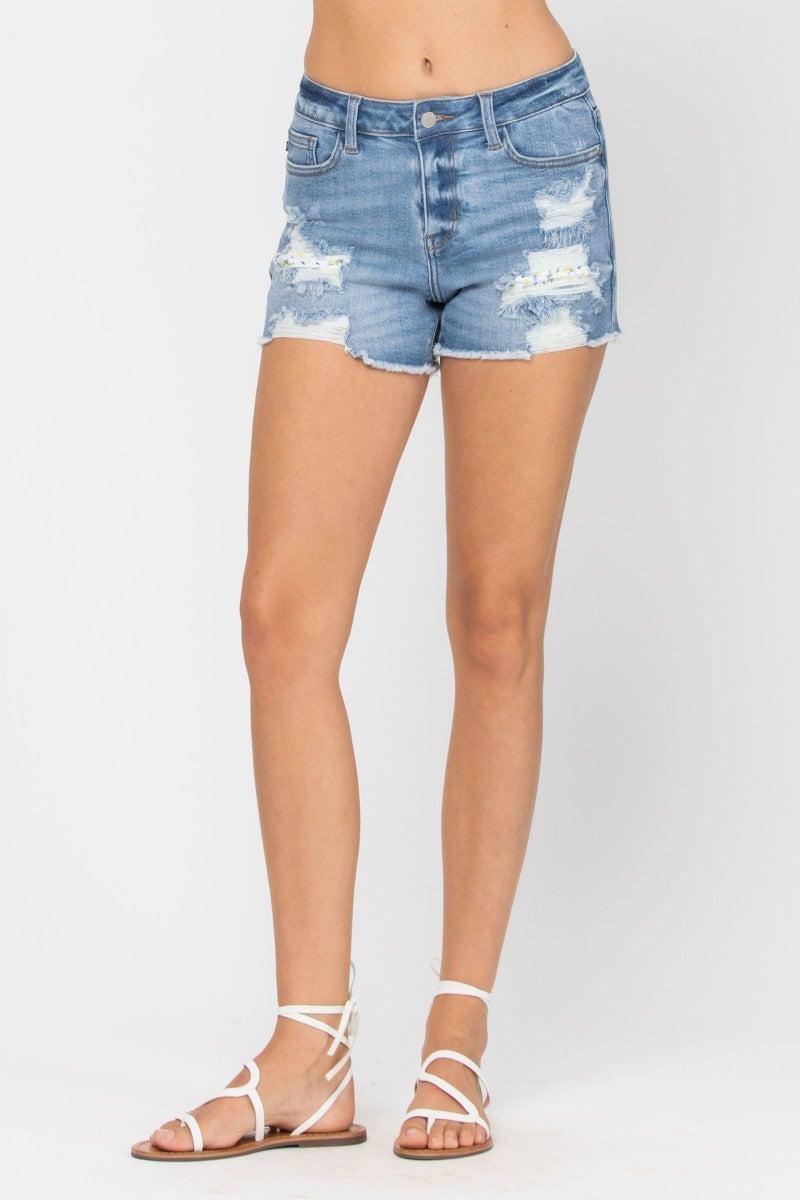 Lemon Patch Judy Blue Shorts