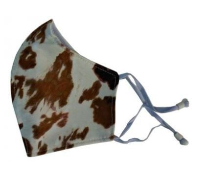 COW PRINT FACE COVER