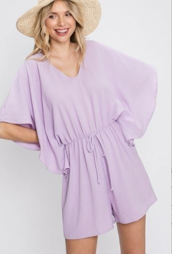 Lavender Ruffle Romper