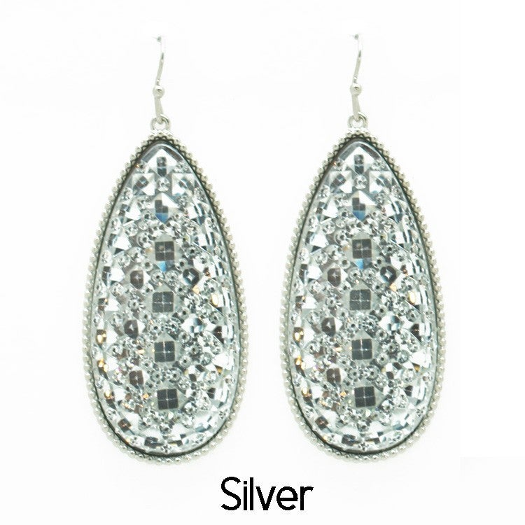 Tear Drop Crystal Earrings