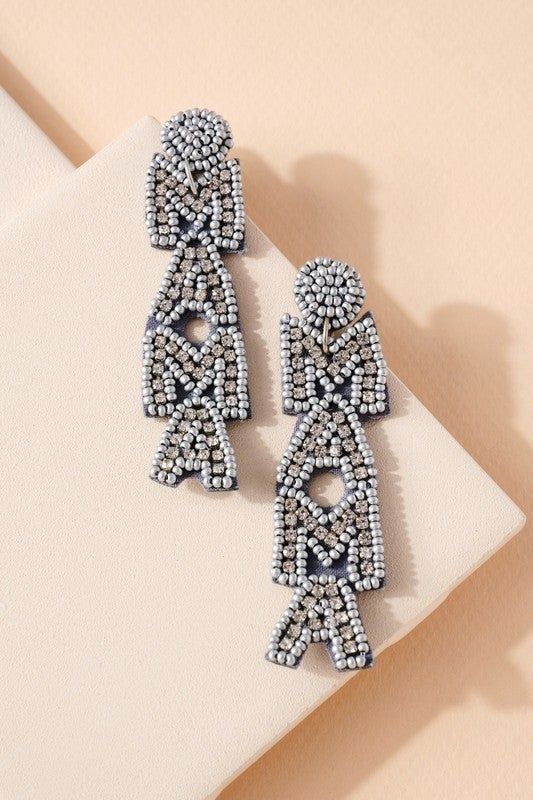 Seed Bead Mama Earrings