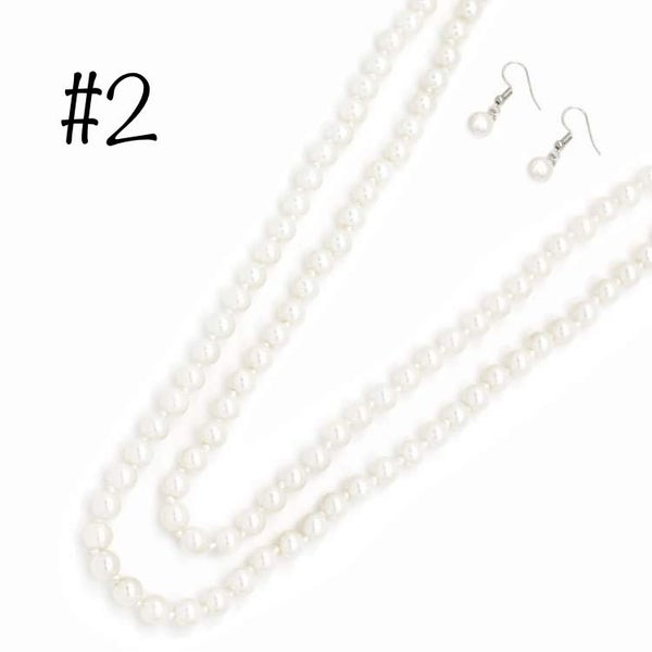 """60"""" Pearl Necklace Set"""