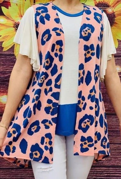 leopard printed women vest