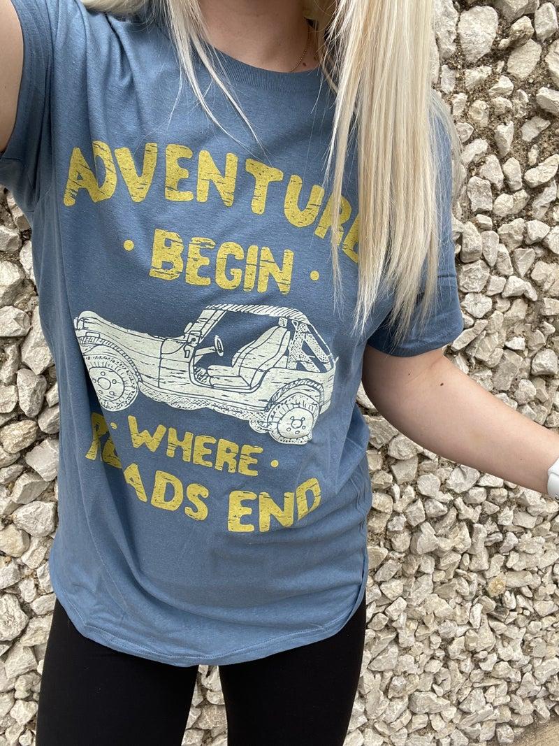 adventures begin where roads ends