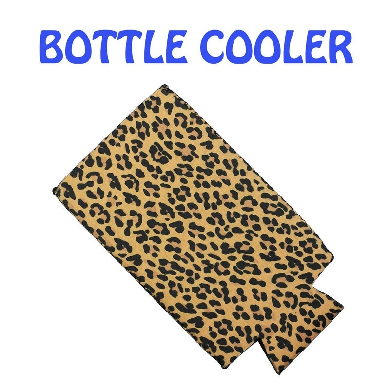 Leopard Slim Can or Bottle Coozy
