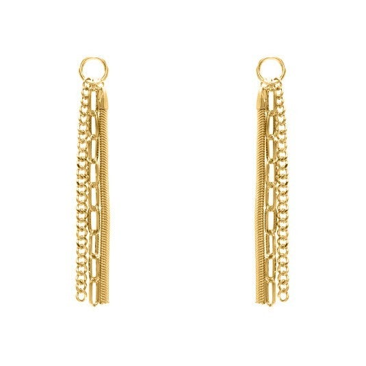 Gold Multi Layer Chain Style Earrings