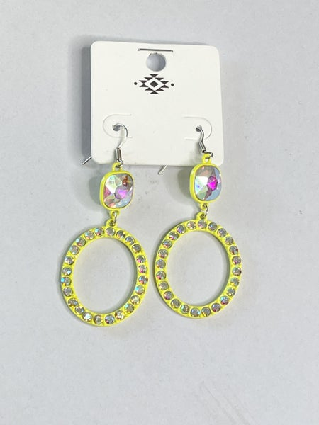 Bling Dangle Hoops