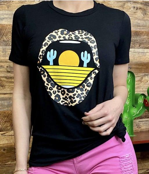 Sunset cactus leopard PU