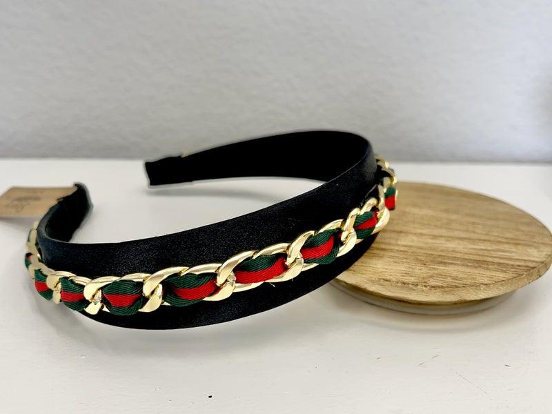 Gucci Look a like chain style head band