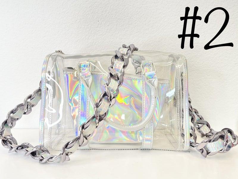holographic concert purse