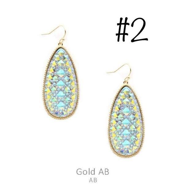 Tear Drop Crystal Earrings