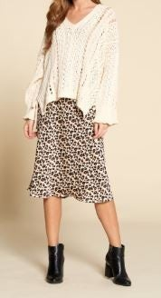 Silky Leopard Maxi Skirt *Final Sale*