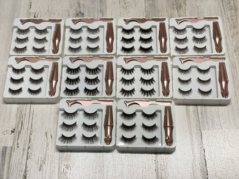MAGNETIC EYELINER AND EYELASH SET SIZE 019