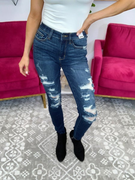 Judy Blue Supreme Mid Rise Skinny Jeans