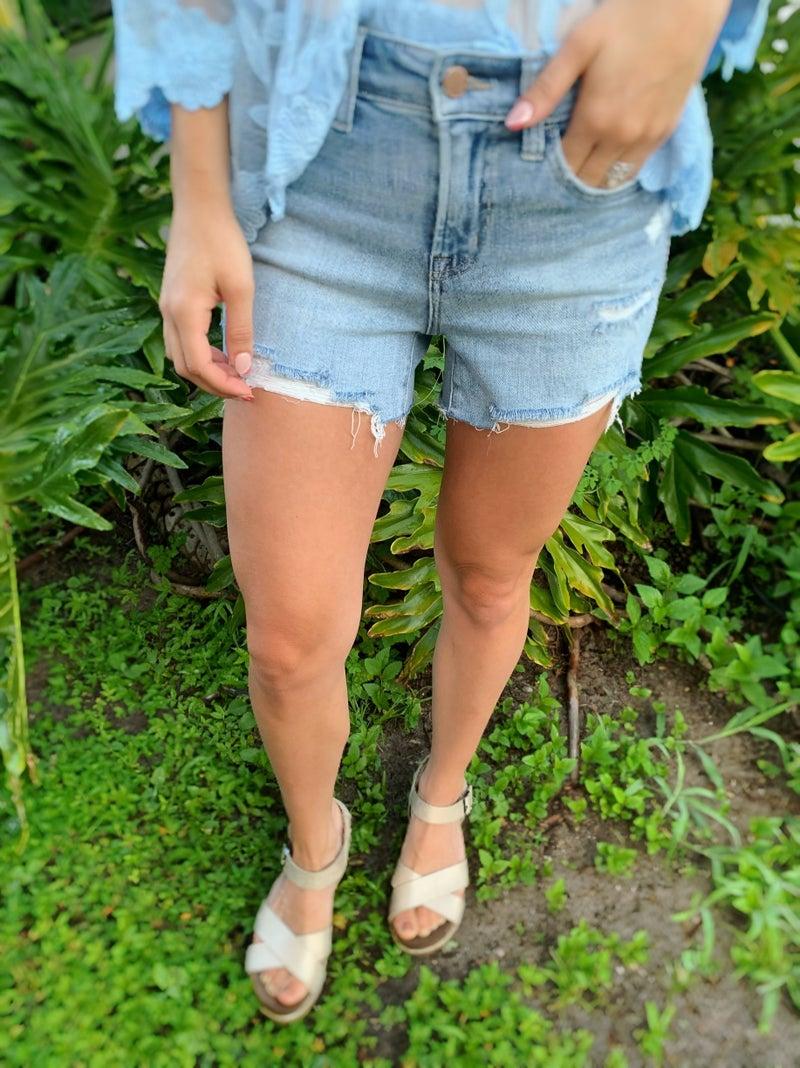 Flying Monkey Cool Girl Summer Denim Shorts