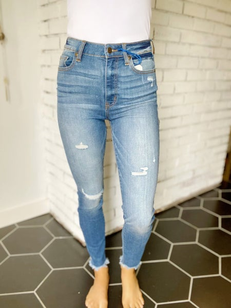 Bring It On High Rise Skinny Jeans