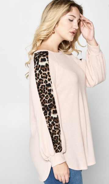 Winning Streak Leopard Sleeve Top