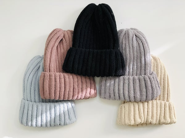 Dreamy Knitted Beanie - 5 Colors!