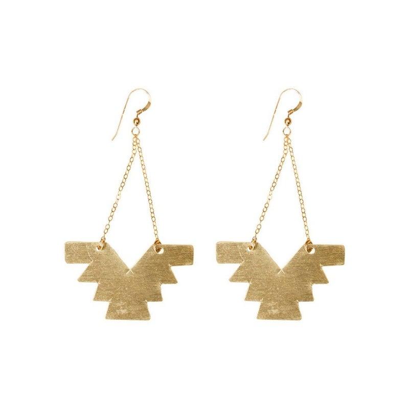Aztec & Chain Earring