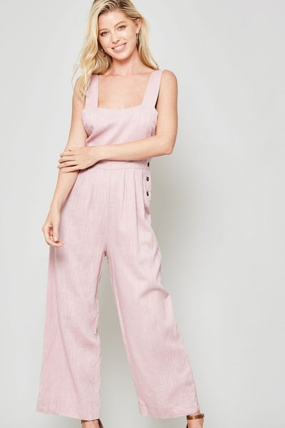 OVER THE MOON CROPPED OVERALL JUMPSUIT