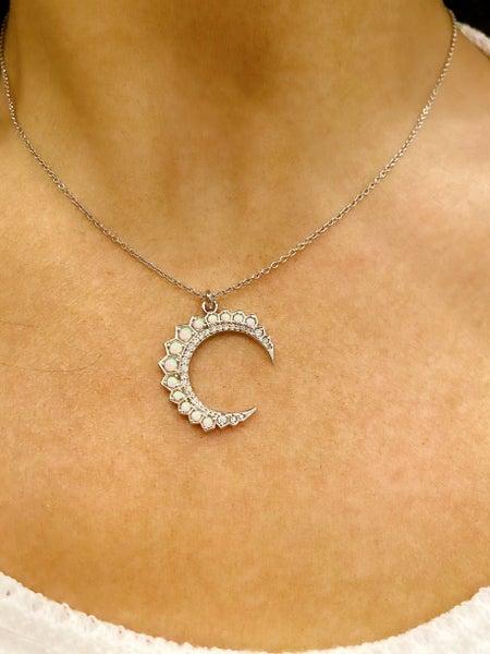 Hespera Opal Moon Necklace - 2 Colors!