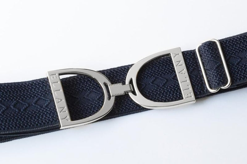 "1.5"" Silver Stirrup Elastic Belt"