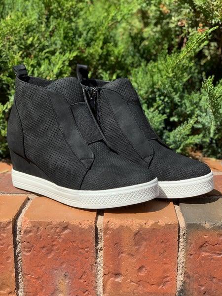 Made For Walkin' Wedge Sneaker - Black