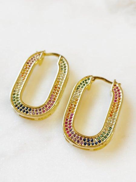 Love Poppy Queen Hoops Multicolor - Silver & Gold