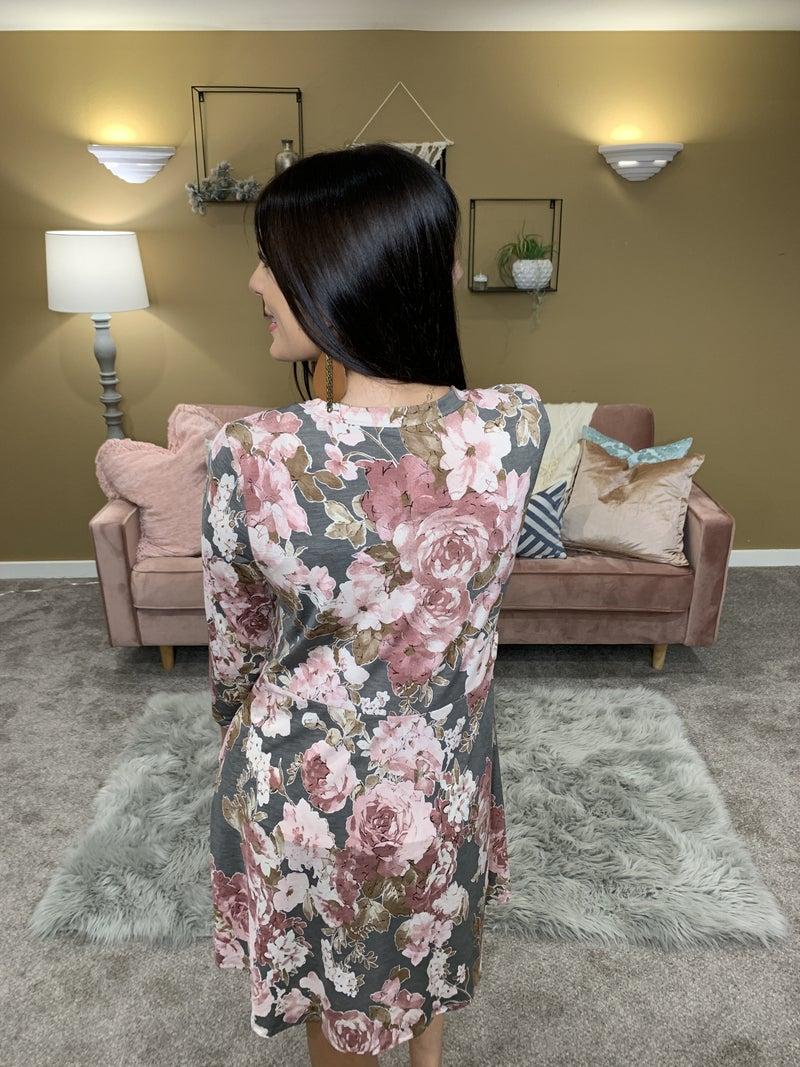 Nice To Meet You 3/4 Sleeve Dress