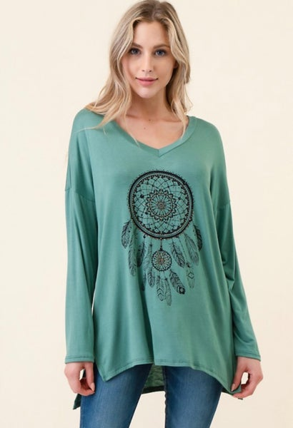 Gypsy Soul Dream Catcher Top - 2 Colors!