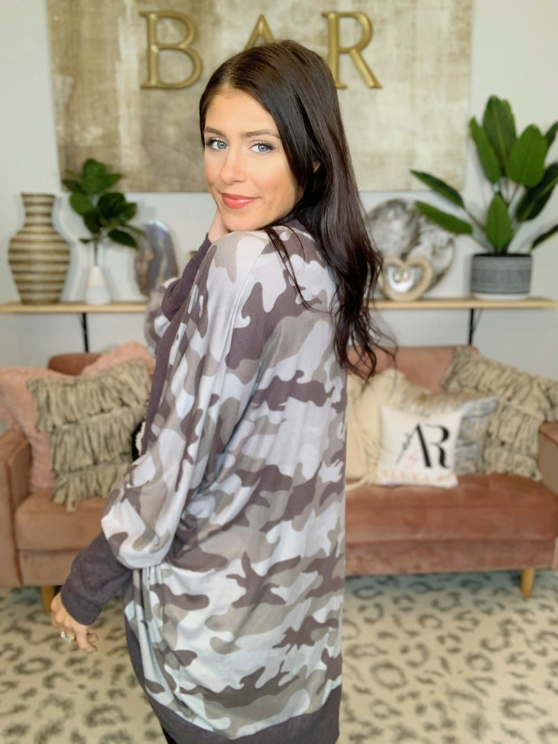 Catch Me If You Can Camo Cardigan - 2 Colors!