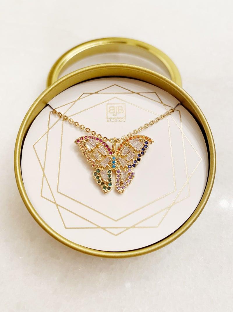 BB Lila Butterflies Necklace
