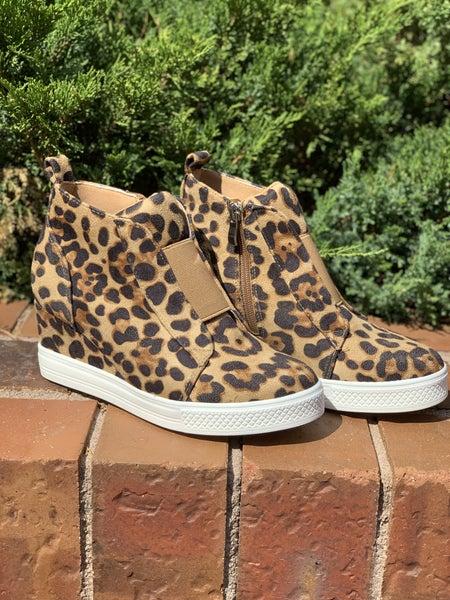 Made For Walkin' Wedge Sneaker - Leopard